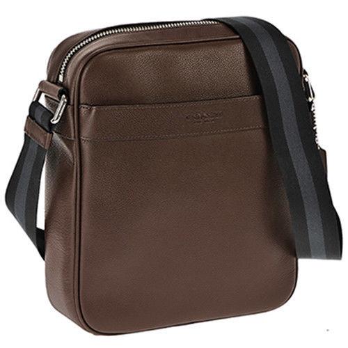 a9fc5ba01c08 NEW Coach Men Charles Flight Bag Smooth Leather Crossbody Shoulder Bag  Mahogany