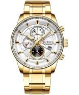 CURREN Stainless Steel Sports Business Watch Men Chronograph Gold Wristwatch - $40.00