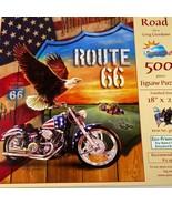 SunsOut Mamma Strada Itinerario 66 Bandiera Motocicletta 500 Pezzi Puzzle - $10.42