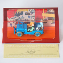 Blue Willys Jeep Destination Moon Voiture Tintin Cars Atlas 1/43  image 2
