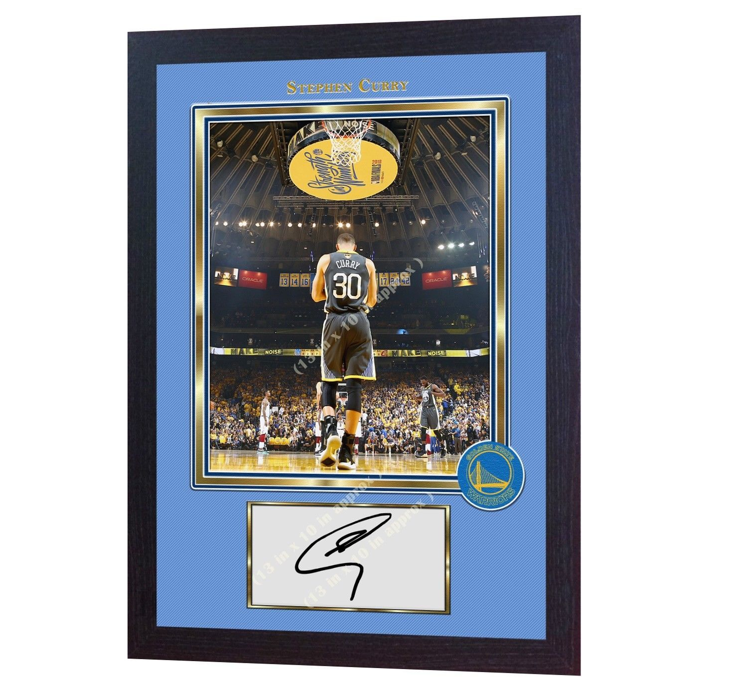 new Stephen Curry Golden State Warriors autographed signed photo print Framed