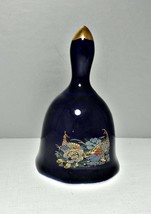 Bell Ceramic Cobalt Blue with Pheasant Pattern Small - $9.62