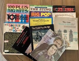 Organ & Piano Music Song Books Lot - 9 Books Plus 3 Solos  - $34.65