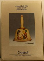 M J Hummel Ninth Edition Annual Bell 1986 in bas-relief Goebel Hum 708 #404 - $15.13