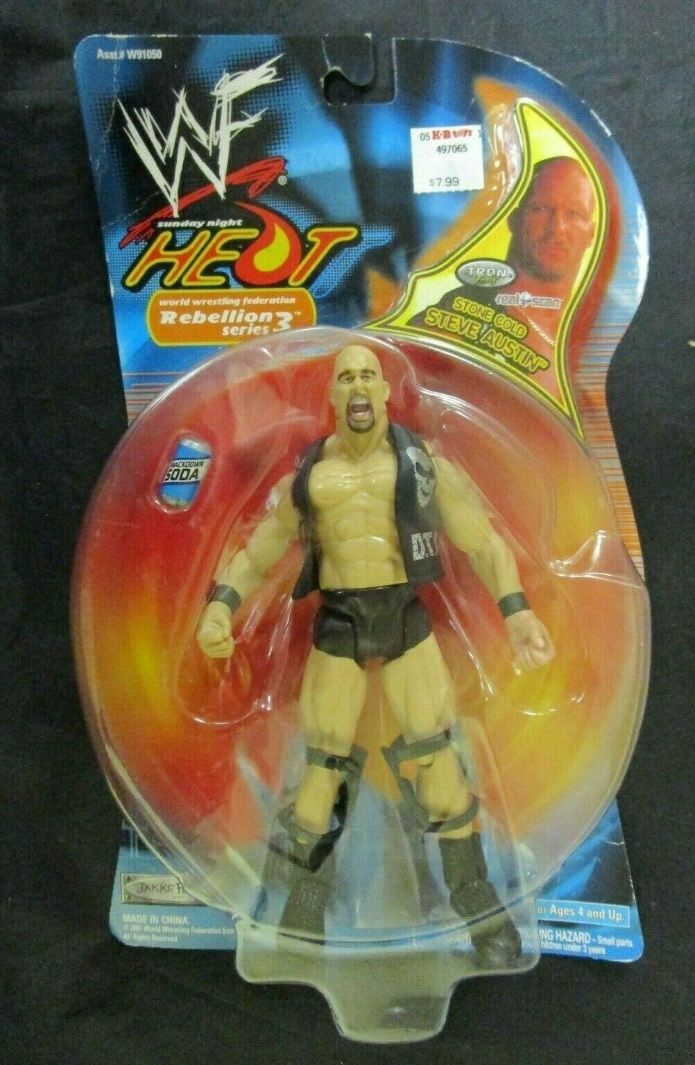 Primary image for WF Sunday Night Heat Wrestling Action Figure Series 3 Stone Cold Steve Austin