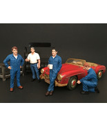 Mechanics 4 Pieces Figure Set For 1:24 Scale Models by American Diorama - $55.42