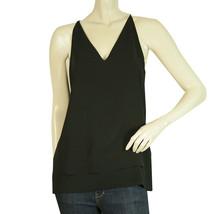 Vince Black Two Layers V Neckline Long Cami Tank Vest Sleeveless Top sz S - $89.10