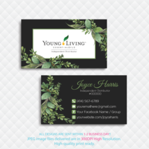 Personalized Young Living Business Cards, Young Living Business Cards, NR27 - $9.00