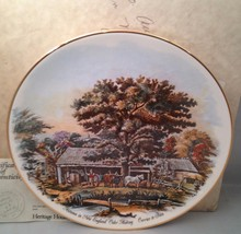 American Homestead - Autumn Currier & Ives America Collector Plate w/ COA - $9.75