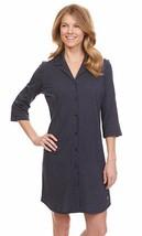 Nautica Plus Size Mini Swiss Dot Boyfriend Sleepshirt SPK011 Navy 1X - $26.10