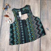 New FULL TILT TILLYS sz S women's boho ethnic style cut out back crop to... - $9.00