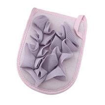 Double-side Body Brush Bath Gloves Bath Brush Bath Supplies Bath Flower [Purple]