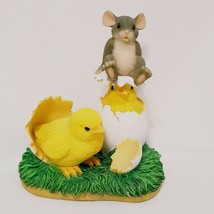 Chicks Hatching Mouse Figurine Fitz and Floyd 88/600 Charming Tails What... - $25.99