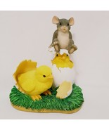 Chicks Hatching Mouse Figurine Fitz and Floyd 88/600 Charming Tails Whats Hatchi - $25.99