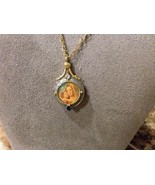 VATICAN LIBRARY COLLECTION MADONNA & CHILD ORNATE LOCKET NECKLACE Antique  - $29.69