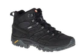Merrel Men Moab 2 Smooth Mid Hiking Trekking Mountain Climbing Shoes Black - $221.00