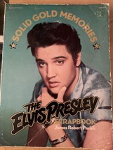 Vintage Solid Gold Memories The Elvis Presley Scrapbook - Rare - 185 Pages - $4.73