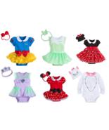 Disney Store Baby Bodysuit Costume Dress Ariel Tinker Bell Snow White Mi... - $24.70+