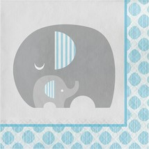 Little Peanut Boy  16 Luncheon Napkins Blue Elephant Baby Shower - $5.19