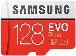 Samsung Evo Plus Class 10 UHS-I microSDXC U3 with Adapter (128GB - $43.68