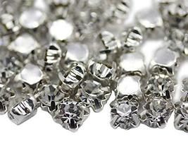 7.20mm SS35 Crystal Clear Sew on Crystal Diamante Rhinestone Rose Montee... - $11.87