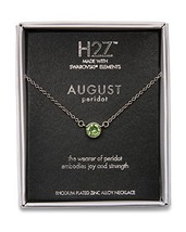 """Pavilion Gift Company H2Z 16223 August Peridot Birthstone Necklace with 18"""" - $30.68"""