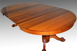 17232 Victorian Mahogany Claw Foot Split Base Banquet Dining Table - $1,450.00