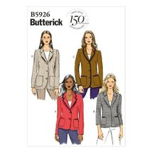 Butterick Patterns B5926 Misses'/Misses' Petite Jacket Sewing Template, Size F5  - $14.70
