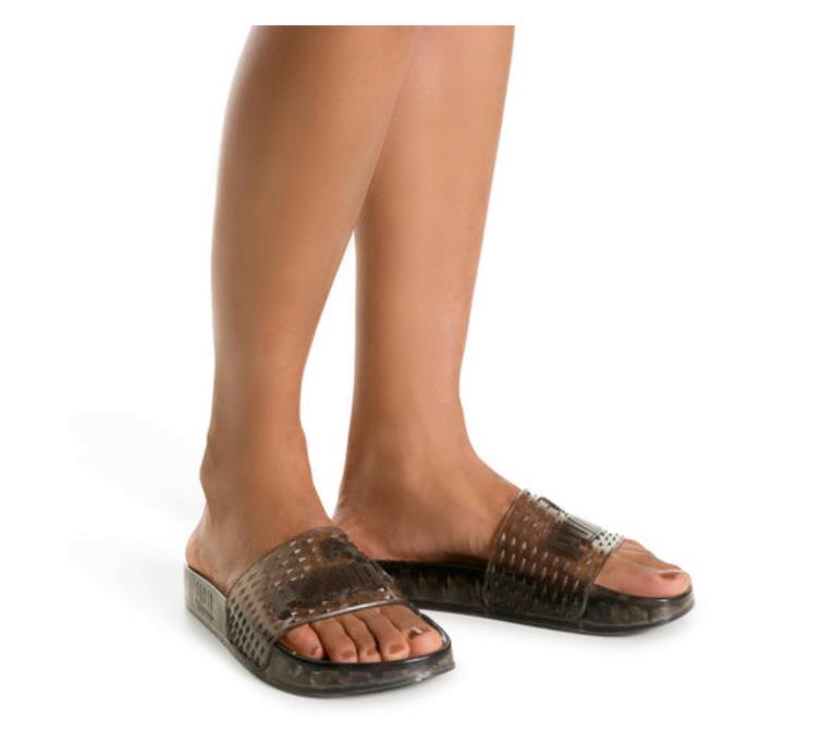 Puma Women's Fenty by Rihanna Black Jelly Slide 36577302 Sandals/Flip Flops NIB image 5