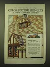 1918 Johns-Manville Asbestos Color-Blende Shingles Ad - The aristocrat - $14.99