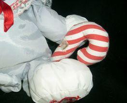 "12"" FISHER PRICE PUFFALUMP GRAY MOUSE STUFFED ANIMAL PLUSH TOY CHRISTMAS CANE image 3"
