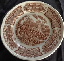 Alfred Meakin China Bread & Butter Plate - Fair Winds - Brown - U.S.S. C... - $9.89