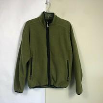 WoolRich Fleece Jacket Men's Medium Olive Green Full Zip Thick Fleece image 1