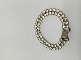 Beautiful Double Strand Rhinestone Vintage Bracelet - $15.29
