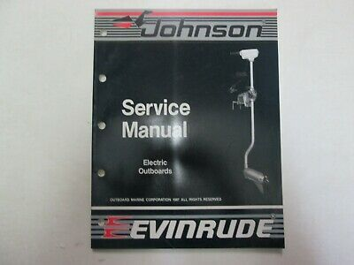 1988 Johnson Evinrude Electric Outboard Service Manual OEM Boat 507658 ***