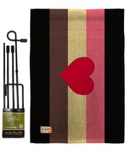 Fat Pride Burlap - Impressions Decorative Metal Garden Pole Flag Set GS148006-DB - $33.97