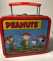 """Peanuts Collectors Mini Lunch Box 6"""" - $9.99"""