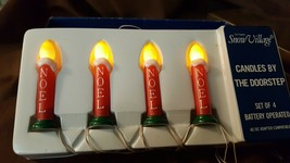 Dept 56 Snow Village Accessory Lighted 4 Pc String CANDLES BY THE DOORST... - $9.99