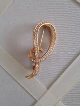 Vintage Crystal Rhinestone Gold Tone Fashion Loop Brooch - $20.00