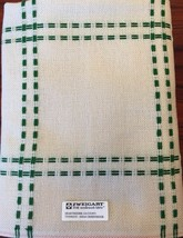 ZWEIGART Hearthside Afghan 14 Count Cross Stitch Christmas Green 48 X 55 Rare - $56.95