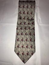 """Christmas Holiday """"Reindeer Repeat"""" Ralph Marlin 2006 Gray Classic Neck Tie - $24.63"""