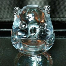 1 (One) FM RONNEBY VINTAGE Clear Art Glass Owl Paperweight Made in Swede... - $20.89