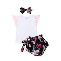 2019 New Cute Toddler Kid Baby Girls Ruffle Tops T shirt Flower Print Bo... - $11.39