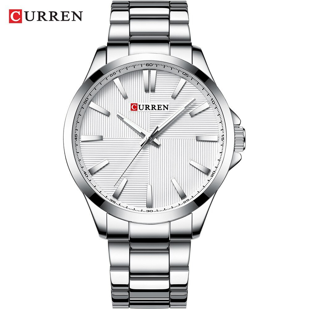 Men  2019   Stainless Steel Fashion Business Mens Watch CURREN Wristwatch Man Cl - $46.05