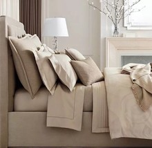 Ralph Lauren Park Avenue Modern Justina 3P Queen comforter shams Taupe $720 - $322.95