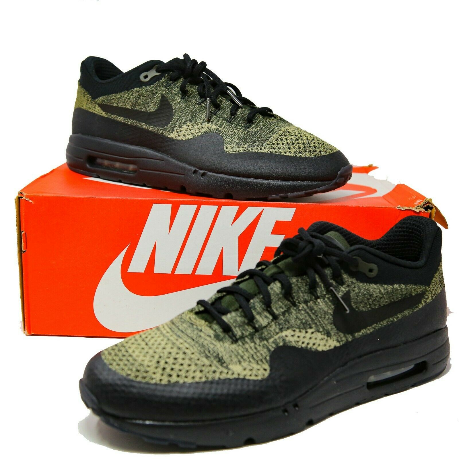 395416658b Nike Air Max 1 Ultra Flyknit FK Olive Noir Sequoia Taille 14 856958-203 Eur  48,5 - $173.00