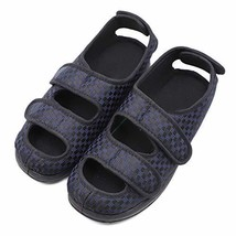 Men's Extra Wide Width Adjustable Slippers, Diabetic & Edema Slippers Sw... - $50.10