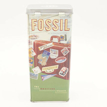 Fossil Watch Tin Vintage 1999 Travel Suitcase American Classic NO WATCH TIN ONLY - $14.95