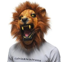Silicon Latex Mask Realistic The lion Horror Scary Mask Full Face Feroci... - $33.98 CAD