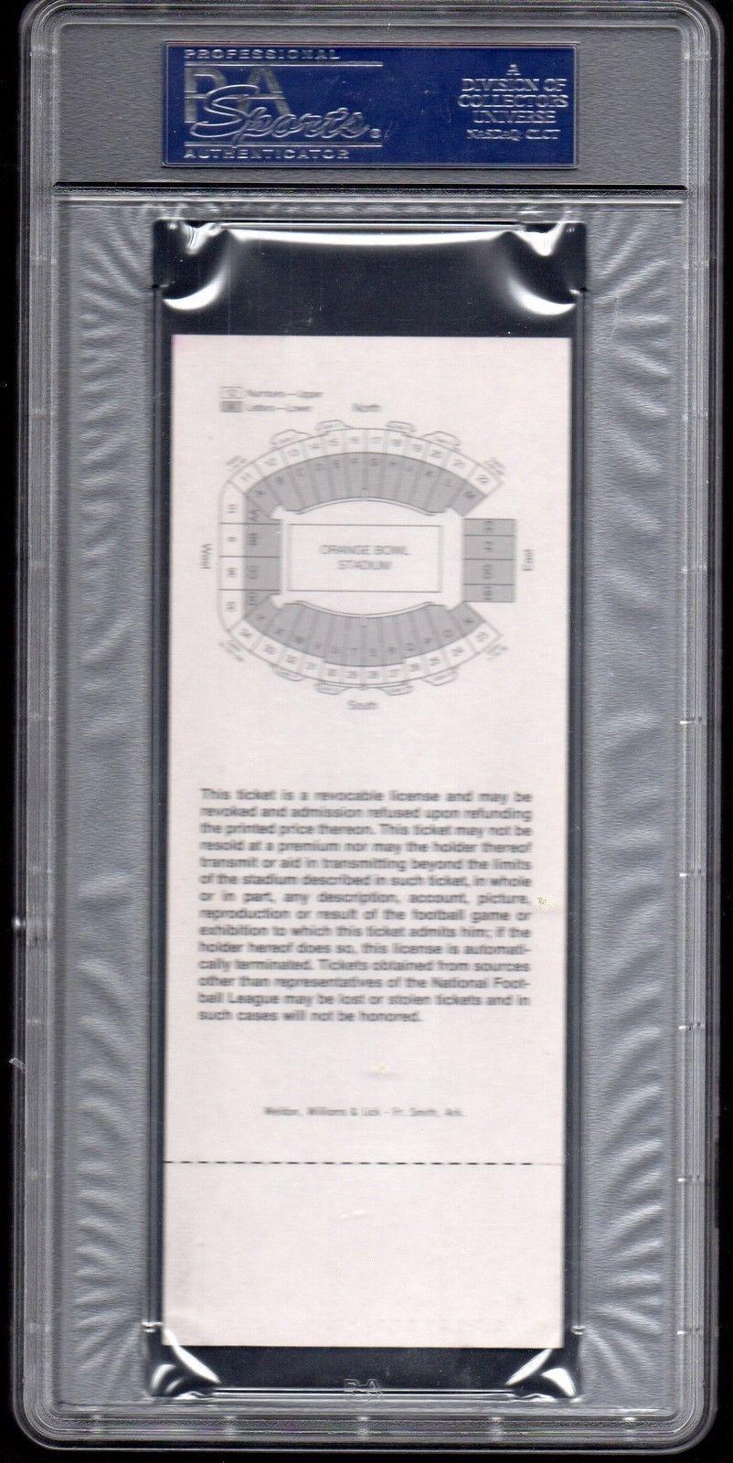 SUPER BOWL XIII Full Ticket PSA 6- January 21,1979 - Steelers vs. Cowboys